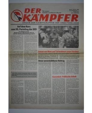 Der Kämpfer Organ der Kampfgruppen der Arbeiterklasse Nr. 1 Januar 1989-20