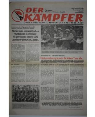 Der Kämpfer Organ der Kampfgruppen der Arbeiterklasse Nr. 12 Dezember 1988-20