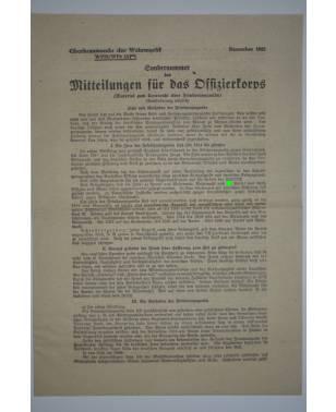 Mitteilungen für das Offizierkorps Sondernummer Oberkommando der Wehrmacht Dezember 1942-20