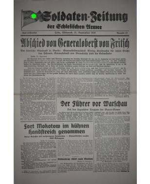 Soldaten-Zeitung der Schlesischen Armee Nr. 19 27. September 1939-20
