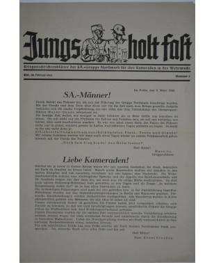 Jungs holt fast Kriegsnachrichtenblätter der SA-Gruppe Nordmark Nr. 8 Februar 1943-20