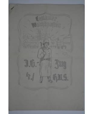 Bierzeitung Erinnerungsschrift Leslauer Wachtposten I.G.-Zug 4./ H.U.S. Posen-20