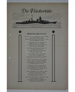 """Die Flüstertüte Nr. 48 4. Juli 1942 Bordzeitung Kreuzer """"Admiral Hipper""""-20"""