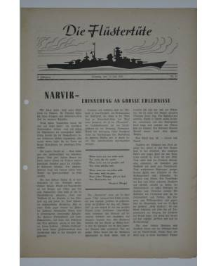"""Die Flüstertüte Nr. 51 12. Juli 1942 Bordzeitung Kreuzer """"Admiral Hipper""""-20"""