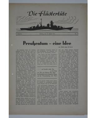 """Die Flüstertüte Nr. 59 16. August 1942 Bordzeitung Kreuzer """"Admiral Hipper""""-20"""