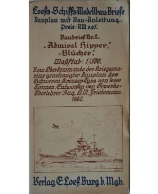 Loefs Schiffsmodell-Baubriefe Nr. 2 Admiral Hipper Blücher 1940-20