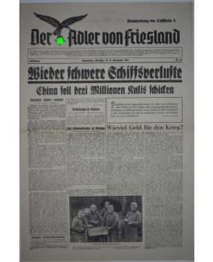 Der Adler von Friesland Frontzeitung der Luftflotte 2 Nr. 65 18./19. November 1939-20