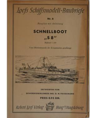 """Loefs Schiffsmodell-Baubriefe Nr. 6 Schnellboot """"S8"""" 1942-20"""