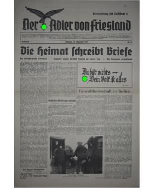 Der Adler von Friesland Frontzeitung der Luftflotte 2 Nr. 73 28. November 1939-20