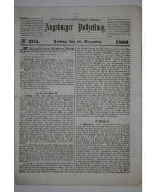 Augsburger Postzeitung Nr. 264 16. November 1860-20