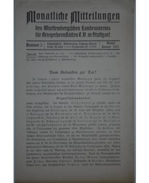 Monatliche Mitteilungen Kriegerheimstätten Nr. 2 Januar 1917-20