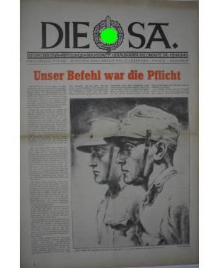 Die SA Zeitung Folge 31 1. August 1941 Ausgabe B-20