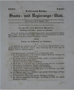 Großherzoglich Badisches Staats und Regierungs Blatt Nr. 35 27. Dezember 1844-20