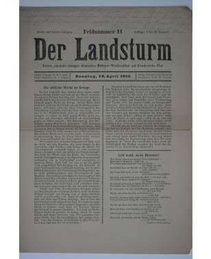 Der Landsturm Feldnummer 11 18. April 1915-20