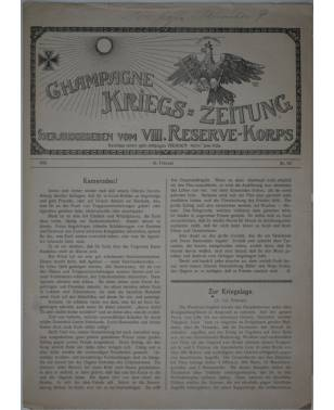 Champagne-Kriegszeitung VIII. Reserve-Korps Nr. 95 19. Februar 1916-20
