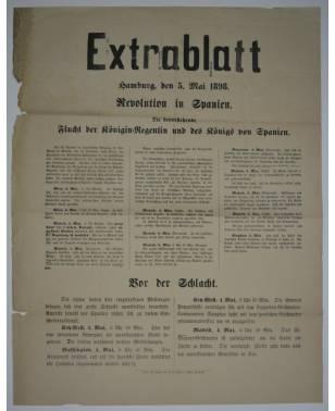 Extrablatt Hamburg 5. Mai 1898 Revolution in Spanien-20