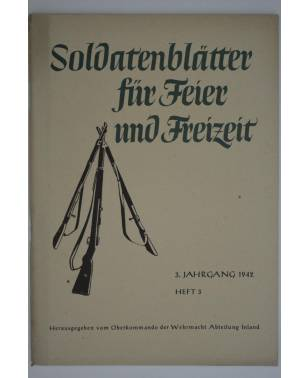 Soldatenblätter für Feier und Freizeit Heft 3 1942-20