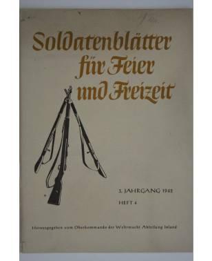 Soldatenblätter für Feier und Freizeit Heft 4 1942-20