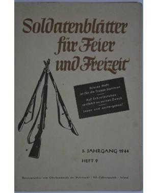 Soldatenblätter für Feier und Freizeit Heft 9 1944-20