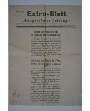 """Extra-Blatt der """"Sangerhäuser Zeitung"""" Nr. 1 30. Dezember 1914-20"""