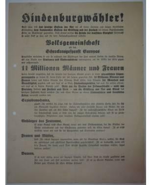 Wahlflugblatt NSDAP April 1932 Reichpräsidentenwahl Adolf Hitler-20