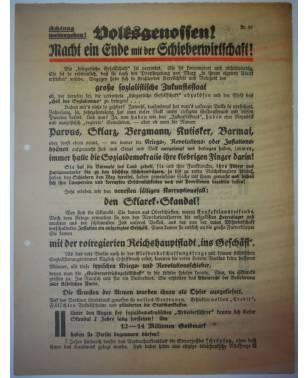 Flugblatt Volksentscheid Young-Plan DNVP NSDAP Stahlhelm Oktober 1929 Sklarek-Skandal-20