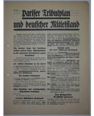 Flugblatt Volksentscheid Young-Plan DNVP NSDAP Stahlhelm Nr. 10 Oktober 1929-20
