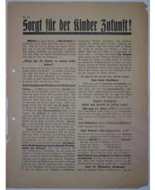 Flugblatt Volksentscheid Young-Plan DNVP NSDAP Stahlhelm Nr. 15 Oktober 1929-20