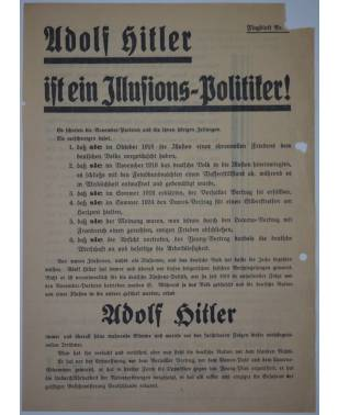 Wahlflugblatt NSDAP um 1932 Adolf Hitler-20