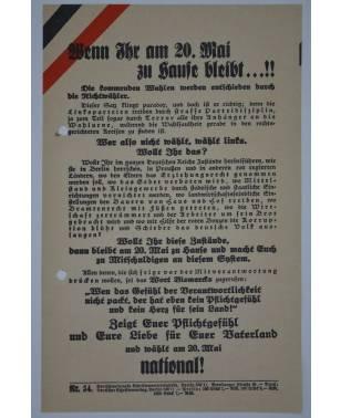 Wahlflugblatt Reichstagswahl 20. Mai 1928 Nr. 54 Deutschnational-20