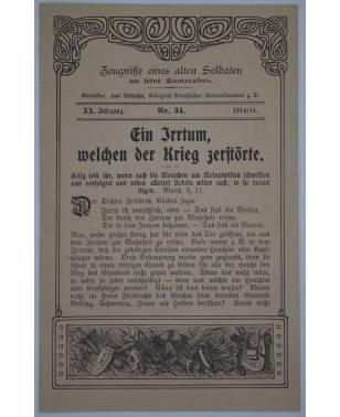 Zeugnisse eines alten Soldaten an seine Kameraden Nr. 34 1914/15-20