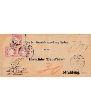 Brief Gemeindeverwaltung Perkam königliche Bezirksamt Straubing 1879-20