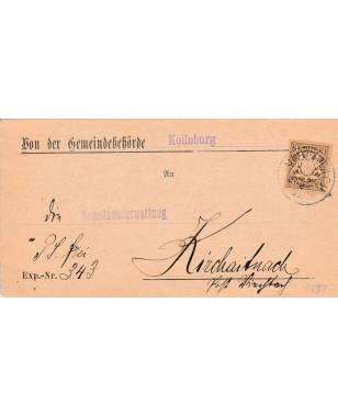 Brief Gemeindebehörde Kollnburg Gemeindeverwaltung Kirchaitnach 1897-20