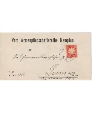 Brief Armenpflegschaftsrathe Kempten Grins bei Pians Bezirk Landeck Tirol Österreich 1898-20