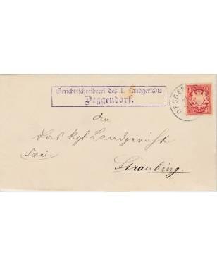 Brief Gerichtsschreiberei des k. Landgerichts Deggendorf Straubing 1898-20