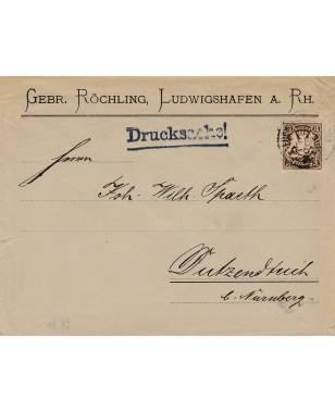 Brief Gebr. Röchling, Ludwigshafen a. Rh. Dutzendteich bei Nürnberg 1899-20
