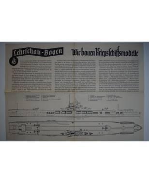 Lehrschau-Bogen Nr. 43/43a Wir bauen Kriegsschiffsmodelle-20