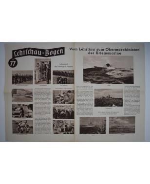 Lehrschau-Bogen Nr. 77/77a Vom Lehrling zum Obermaschinisten der Kriegsmarine-20