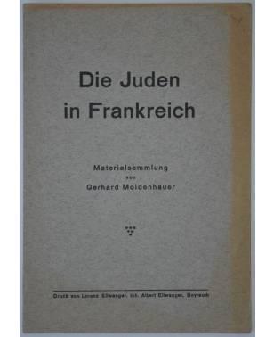 Die Juden in Frankreich Materialsammlung von Gerhard Moldenhauer 1937-20